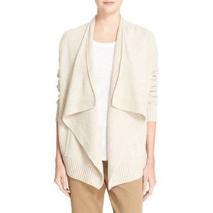 Vince Cashmere Wool Chalet Drape Front Waterfall S
